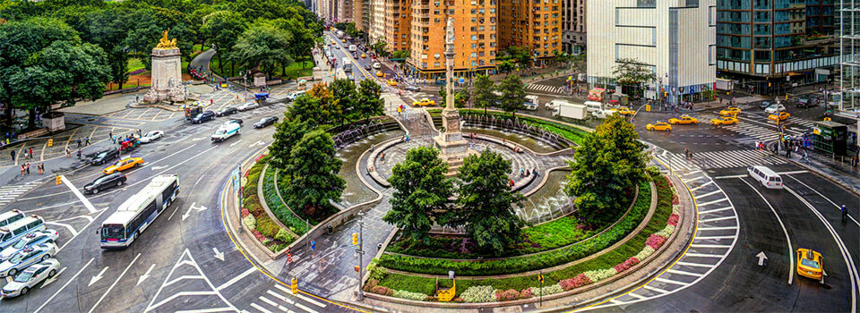 large roundabout in New York City